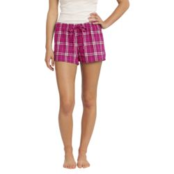 Juniors Flannel Plaid Boxer Thumbnail