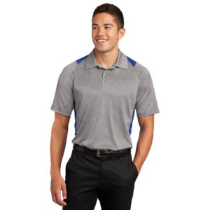 Adult Heather Colorblock Polo Thumbnail
