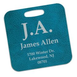 2-Sided Aluminum Rectangle Bag Tag Thumbnail